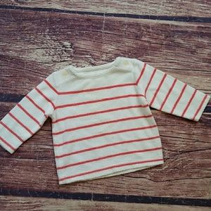 Baby Gap first favorites terry striped top sz 3-6m